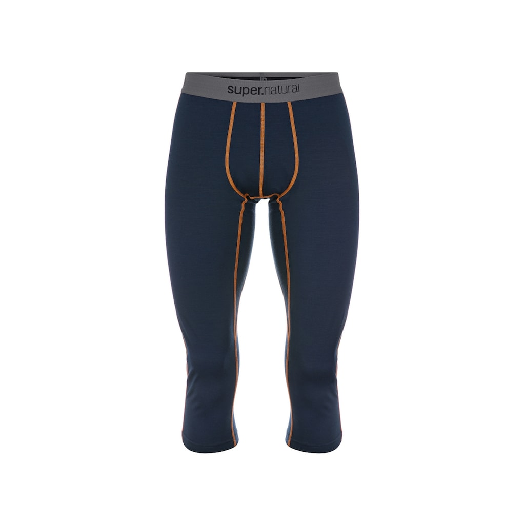 SUPER.NATURAL Funktionstights »M BASE 3/4 TIGHT 230«, funktioneller Merino-Materialmix