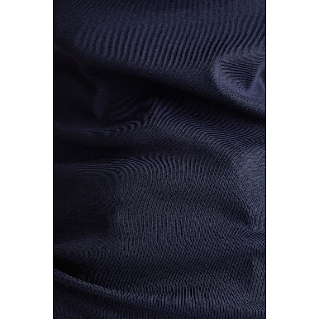 Esprit T-Shirt, mit funkelndem Glitzerstein-Logo auf der Bust