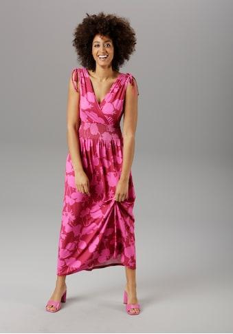 Aniston SELECTED Maxikleid, in sommerlichen Knallfarben kaufen