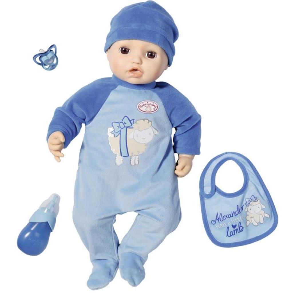 Baby Annabell Babypuppe »Alexander, 43 cm«, interaktiv mit Schlafaugen