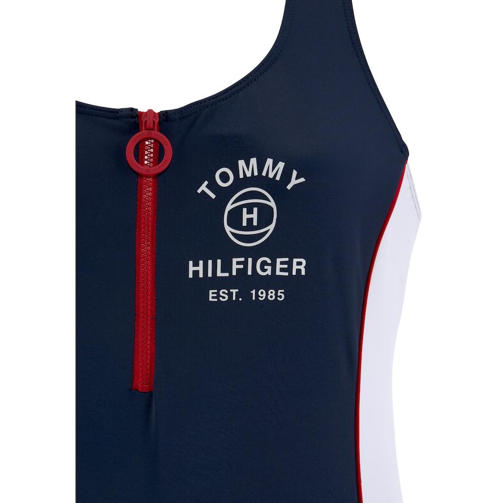 TOMMY HILFIGER Badeanzug, im Kontrastdesign