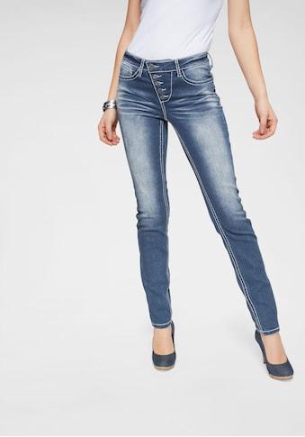 Arizona Slim-fit-Jeans »Heavy Washed - Shaping«, Mid Waist kaufen