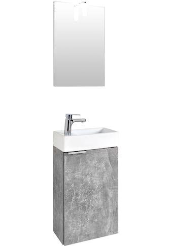 Homexperts Badmöbel-Set »Gizo«, (Set, 2 St.), mit LED-Beleuchtung, für Gäste-WC geeignet kaufen