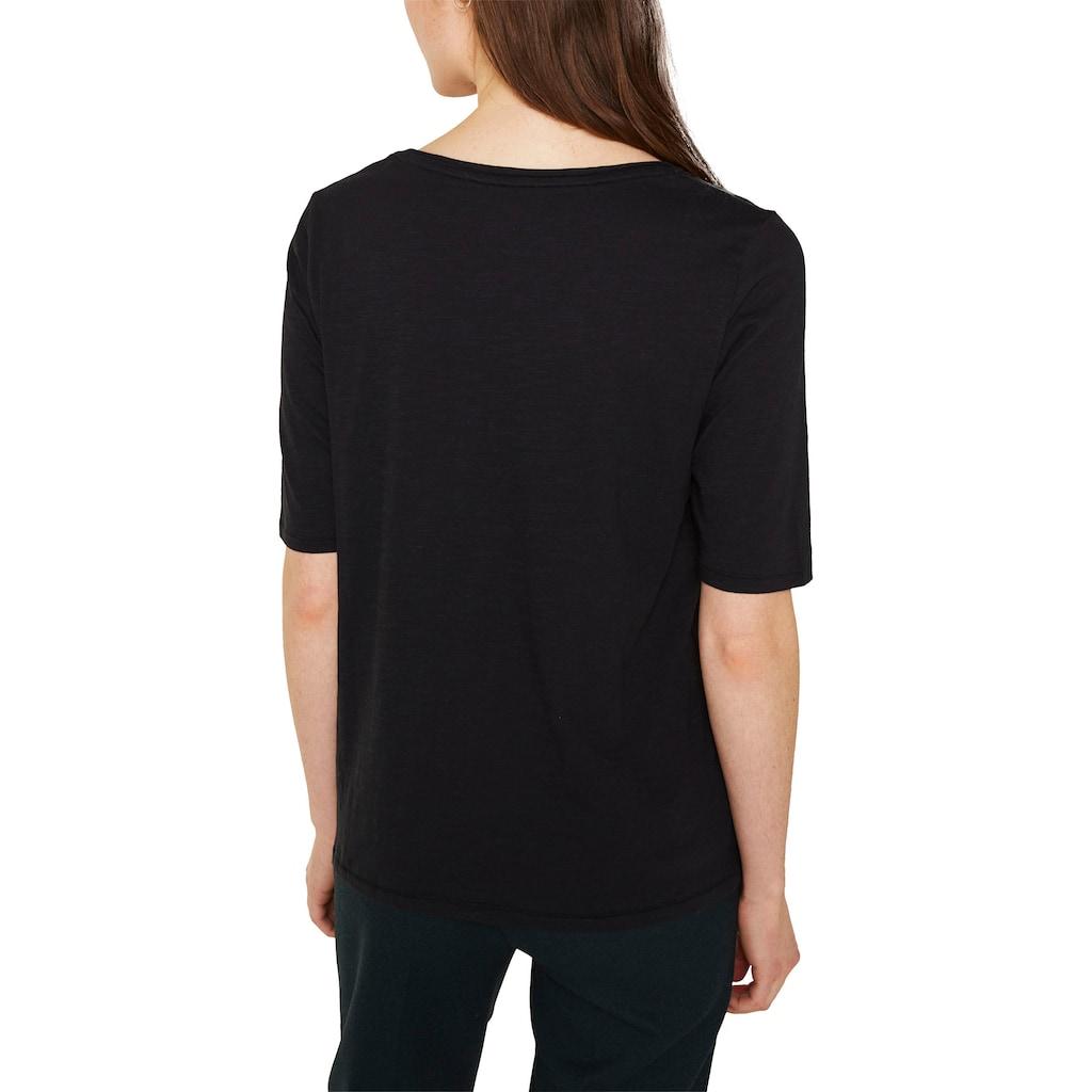 Esprit T-Shirt, mit Halbarm und Rundhalsausschnitt