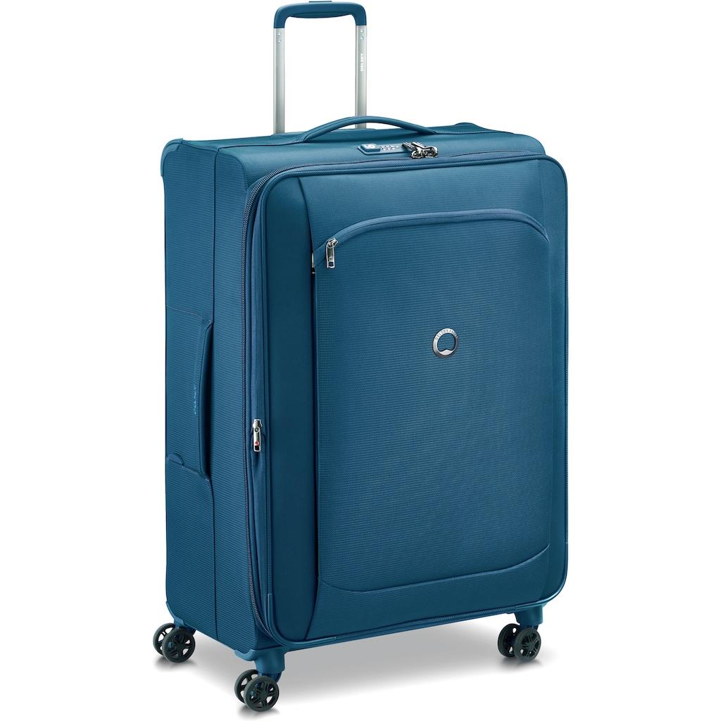 Delsey Weichgepäck-Trolley »Montmartre Air 2.0, 68 cm, blue«, 4 Rollen, mit Volumenerweiterung