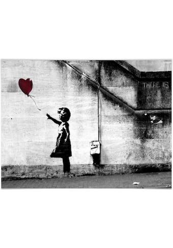 Wall-Art Poster »Graffiti Bilder Girl with balloon«, Menschen, (1 St.), Poster,... kaufen