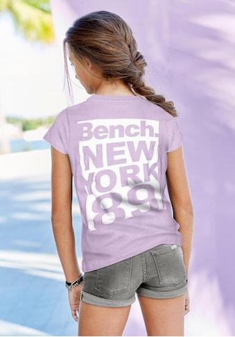 Bench. T-Shirt, mit grossem Rückenprint kaufen