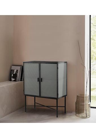 LeGer Home by Lena Gercke Kommode »Almira«, Türen mit Riffelglas, Zeitloses Design, in... kaufen