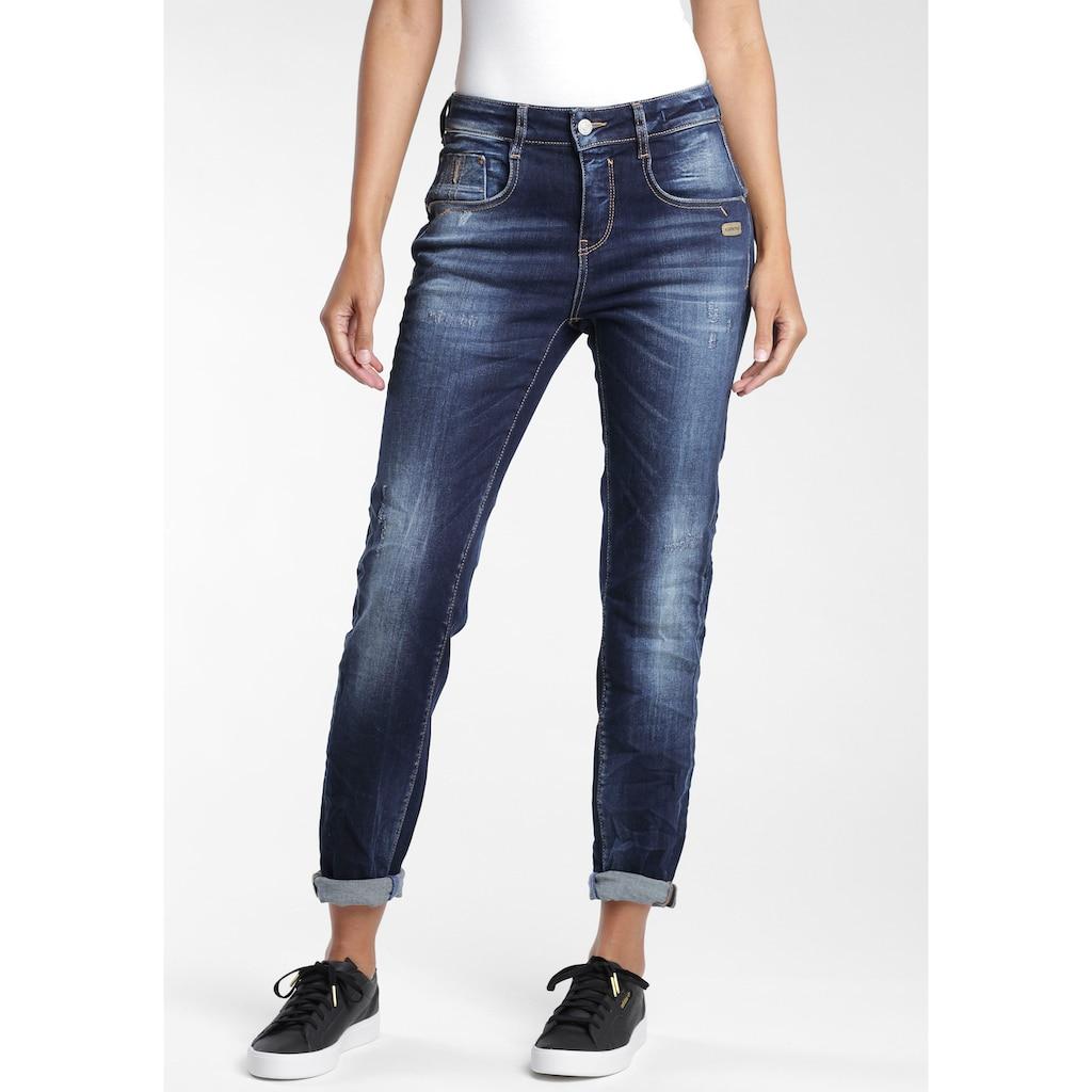 GANG Straight-Jeans »Rubinia«, mit Used-Effekten
