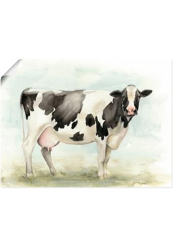 Artland Wandbild »Wasserfarben Kuh I«, Haustiere, (1 St.), in vielen Grössen &... kaufen