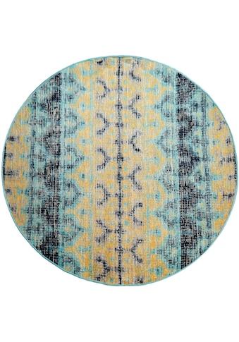 Paco Home Teppich »Artigo 417«, rund, 4 mm Höhe, Vintage Design, In- und Outdoor... kaufen