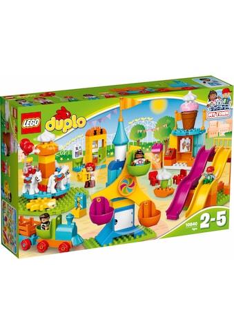 """LEGO® Konstruktionsspielsteine """"Grosser Jahrmarkt (10840), LEGO® DUPLO® Town"""", Kunststoff, (106 - tlg.) kaufen"""