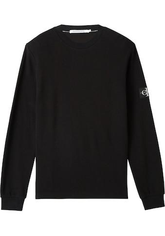 Calvin Klein Jeans Langarmshirt »MONOGRAM BADGE WAFFLE LS TEE« kaufen