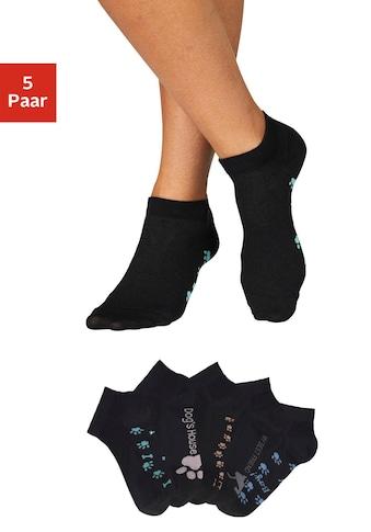 Arizona Sneakersocken, (5 Paar), mit süssem Pfotendesign unter der Sohle kaufen