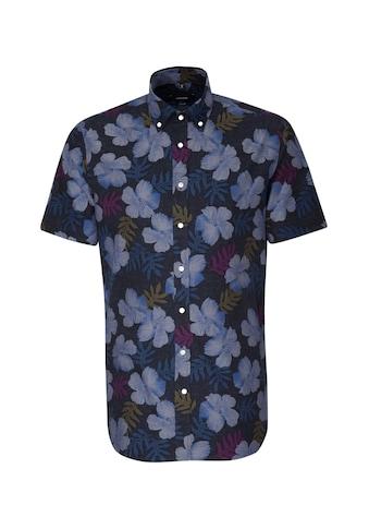 seidensticker Businesshemd »Shaped«, Shaped Kurzarm Button-Down-Kragen Floral kaufen