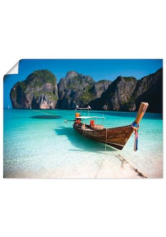 Artland Wandbild »Maya Bay, Koh Phi Phi Leh, Thailand«, Boote & Schiffe, (1 St.), in... kaufen