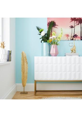 Home affaire Dekofigur »Blatt goldfarben auf Sockel« kaufen