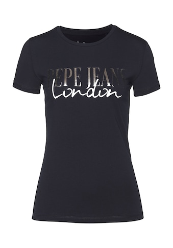 Pepe Jeans T-Shirt »MONA«, ein besonderes Basic Shirt mit coolem Marken-Logo-Design kaufen