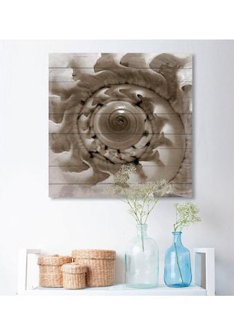 queence Holzbild, 40x40 cm, Echtholz kaufen
