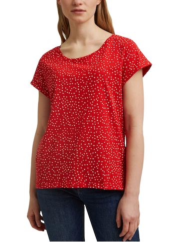 Esprit T-Shirt, mit Allover-Punkte-Print kaufen