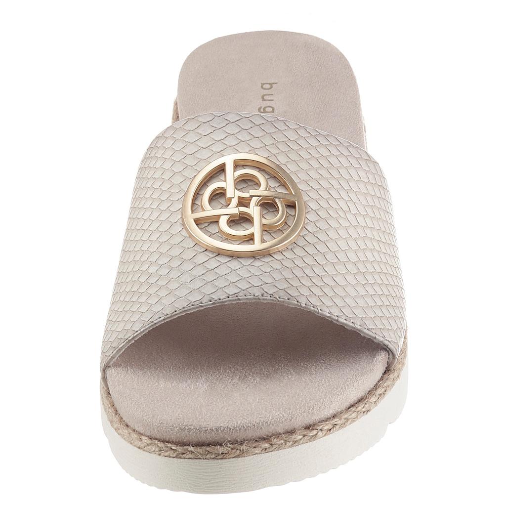 bugatti Pantolette »KIKO«, mit glänzendem Schmuckelement