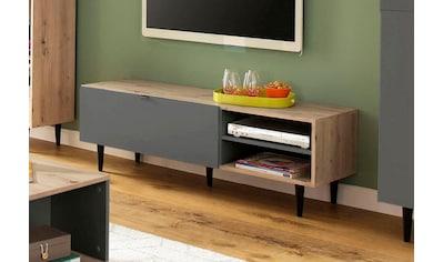 my home Lowboard »Legro«, mit schwarz lackierten Buchenholzbeinen, Zweifarbigkeit,... kaufen