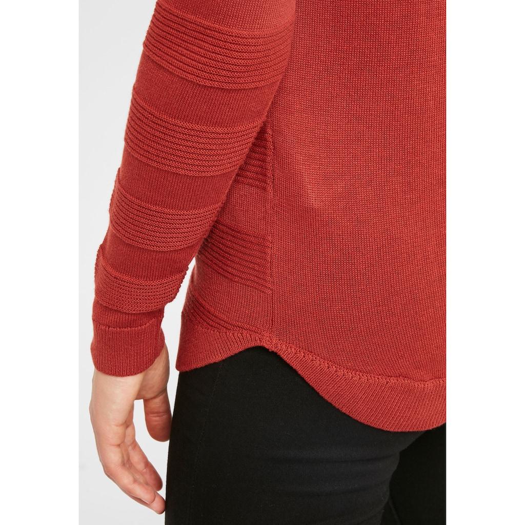 fransa Strickpullover »LETAN 3«, Pullover in Fein-Strick Optik