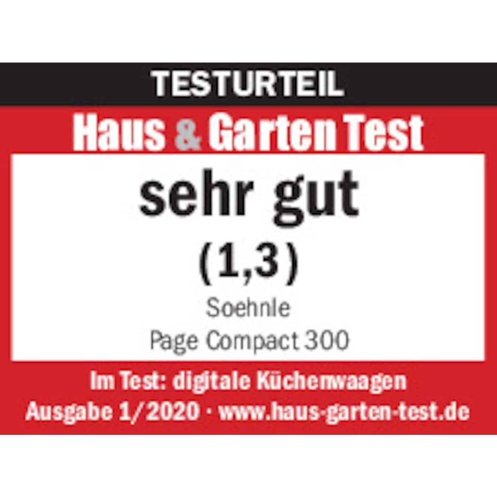 Soehnle Küchenwaage »Page Compact 300«, Tragkraft bis maximal 5 kg (1-g-genau)