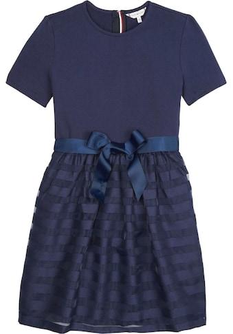 TOMMY HILFIGER Sommerkleid »ORGANZA STRIPE COMBI DRESS« kaufen