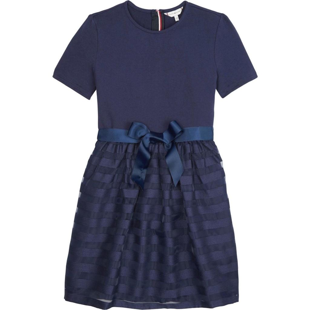 TOMMY HILFIGER Sommerkleid »ORGANZA STRIPE COMBI DRESS«