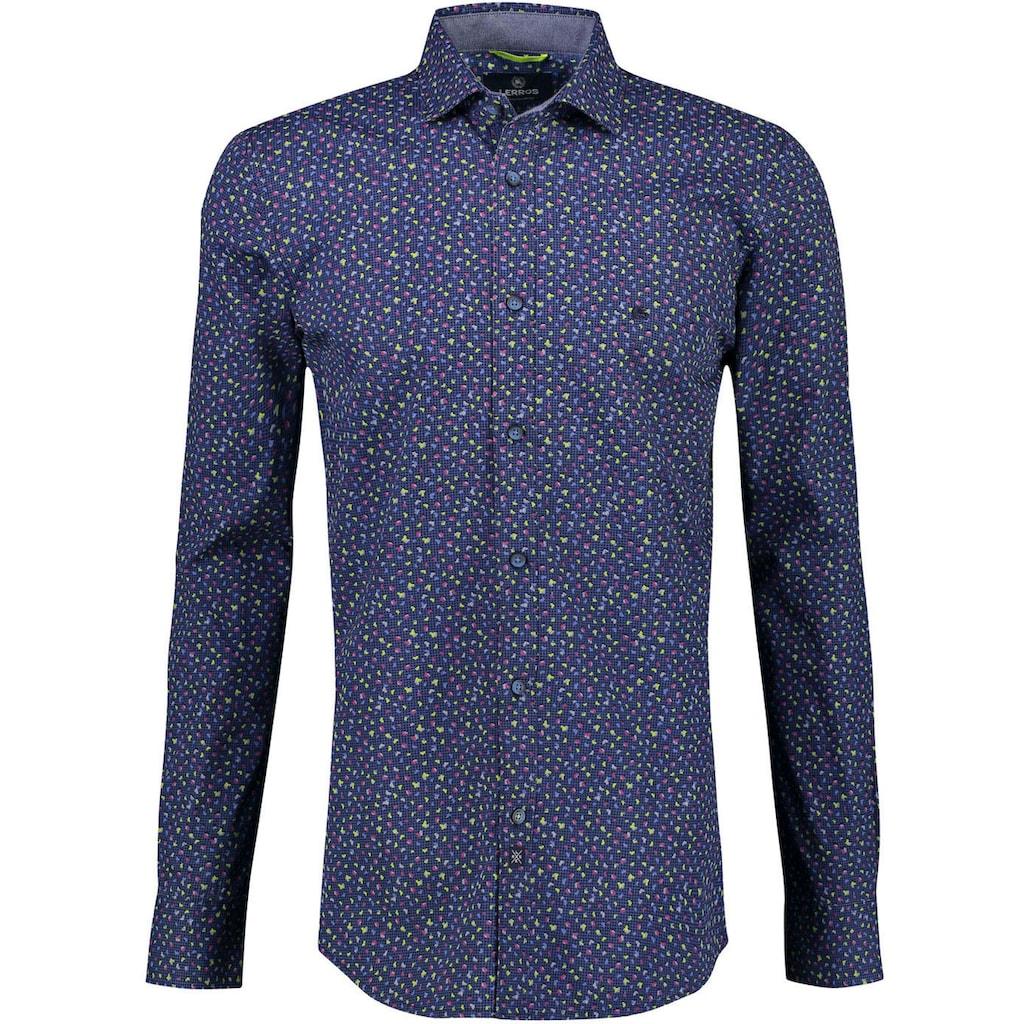 LERROS Langarmhemd, mit farbigen Akzenten