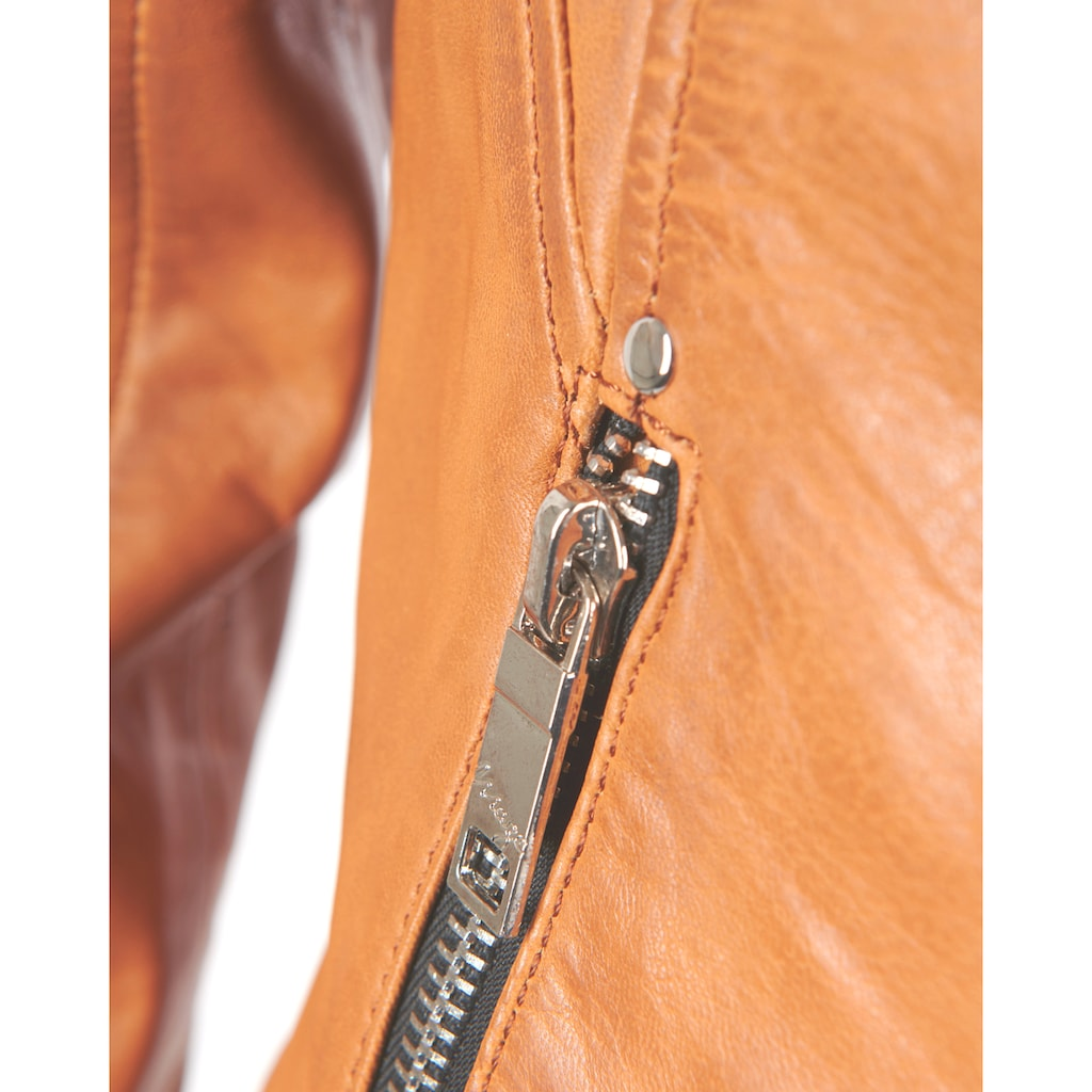 Maze Lederjacke mit asymmetrischem Reissverschluss