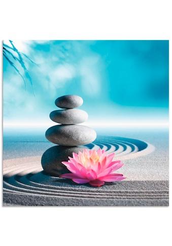 Artland Wandbild »Sand, Lilie und Spa-Steine in Zen-Garten«, Zen, (1 St.), in vielen... kaufen