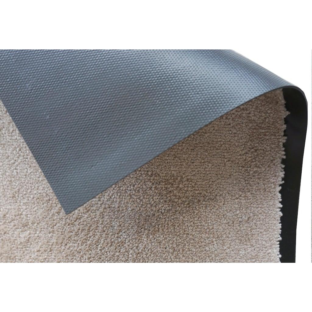 SCHÖNER WOHNEN-Kollektion Fussmatte »Miami Uni WM«, rechteckig, 7 mm Höhe, Schmutzfangmatte, waschbar