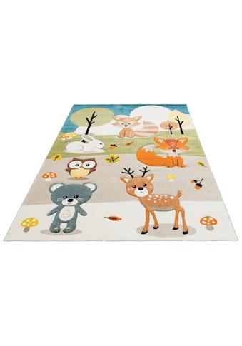 Lüttenhütt Kinderteppich »Wald«, rechteckig, 13 mm Höhe, Pastellfarben,... kaufen