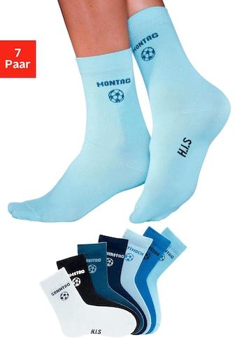 H.I.S Socken, (7 Paar), für Kinder mit Fussballmotiv kaufen