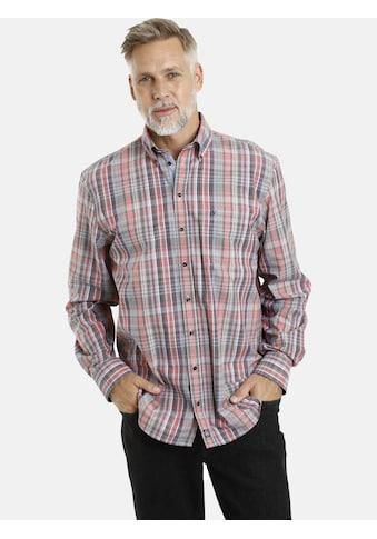 Jan Vanderstorm Karohemd »FAFNER«, Baumwollhemd, Comfort Fit kaufen