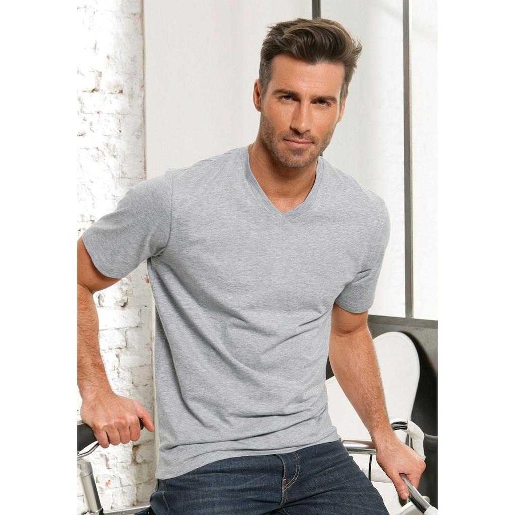 s.Oliver Bodywear V-Shirt, in uni