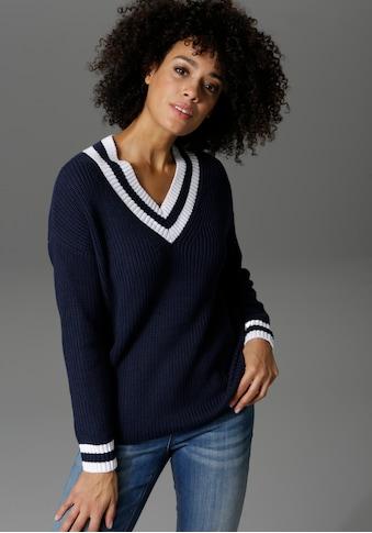 Aniston CASUAL V - Ausschnitt - Pullover kaufen