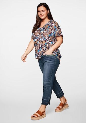 Sheego Stretch-Jeans, in 7/8-Länge mit Destroyed-Effekten und offenem Saumabschluss kaufen