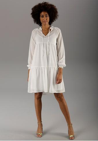 Aniston CASUAL Sommerkleid, (Set, 2 tlg.), mit eingewebten Punkten kaufen