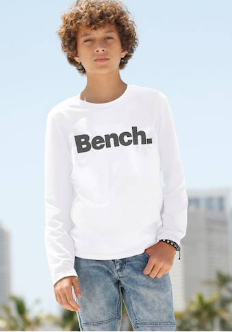 Bench. Langarmshirt, mit Druck in Kontrastfarbe kaufen