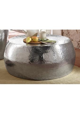 Home affaire Couchtisch »Aluci«, aus schönem Aluminium, in Hammerschlag-Optik, Höhe 29,5 cm kaufen