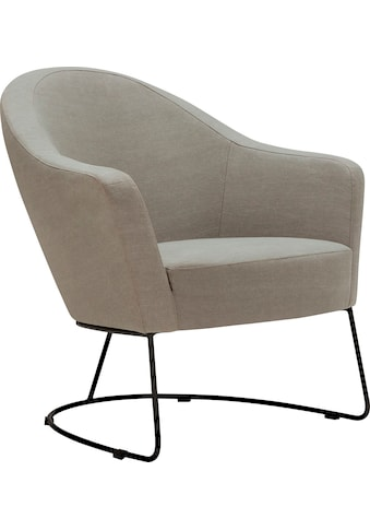 LOVI Loungesessel »Grape«, Metallrahmen schwarz, ergonomische Gestaltung mit... kaufen