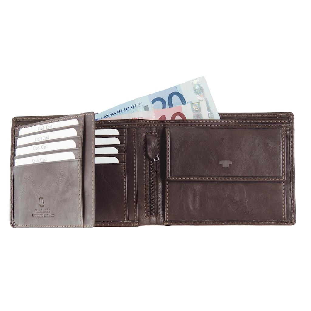 TOM TAILOR Geldbörse »LARY«, im Querformat aus echtem Leder