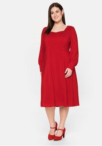 Sheego Abendkleid, mit dezentem Muster kaufen