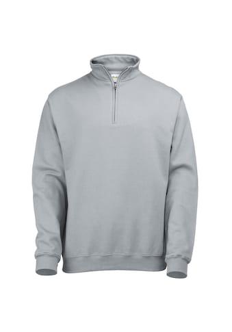 AWDIS Stehkragenpullover »Herren Sweatshirt / Pullover mit Reissverschluss am Kragen« kaufen