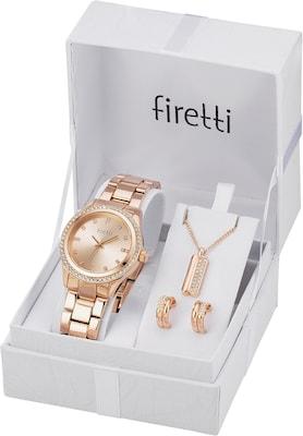 Schmuckset bestehend aus Armbanduhr, Halskette und Ohrringen