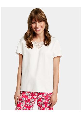 Taifun T - Shirt Kurzarm Rundhals »Blusenshirt mit Spitze« kaufen