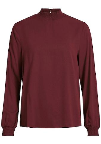 Vila Shirtbluse »VIDANIA«, mit gesmoktem Ärmel- und Ausschnittabschluss kaufen